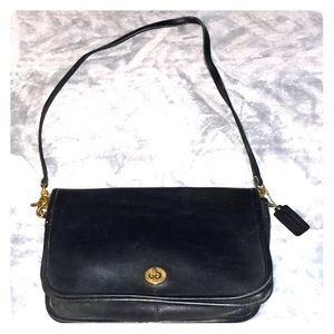Coach Vintage black leather purse